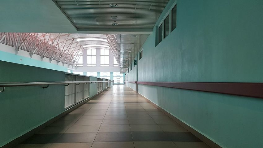 Walkway Pathway Wall Windows Indoors  No People Architecture Built Structure Day