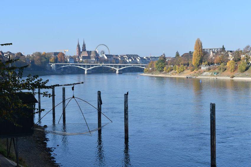 P. Basel Bridge Bridge - Man Made Structure Ferris Wheel Outdoors River Sky Travel Destinations Urban Skyline Water