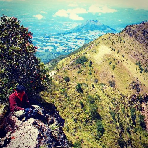 Nature Beauty In Nature Outdoors Real People Sky Merbabumount Centraljava INDONESIA