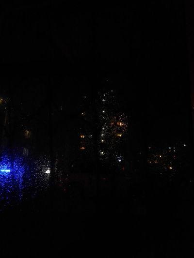 Rain Night No People Sky Outdoors Illuminated Nightphotography Red Dark Dark Photography Rainynight
