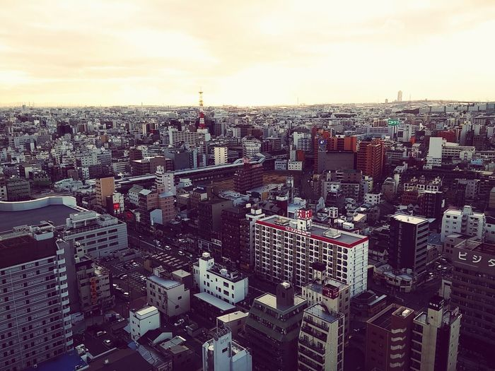 Osaka 大阪 Osaka,Japan Streetscape Travel Destinations Skyscraper Architecture Urban Skyline Streetscape With Sunset