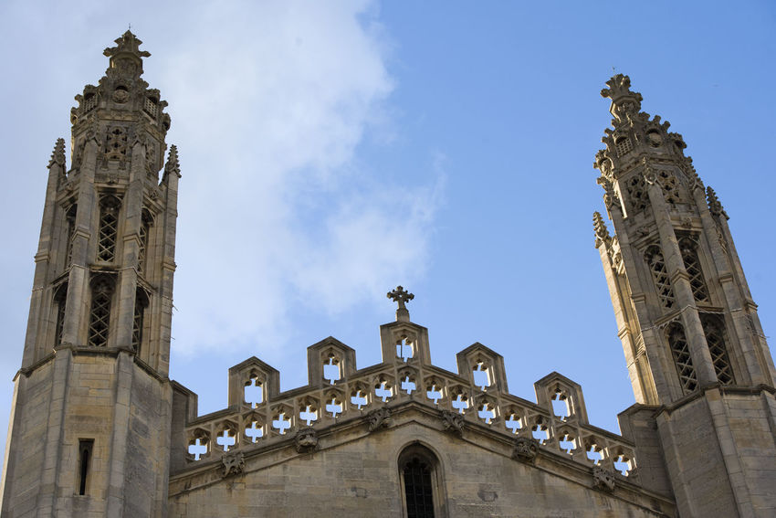 King's College Chapel King's College King's College, Cambridge Kings College Architecture Building Exterior Built Structure Cambridge Day Detail History Low Angle View No People Outdoors Sky Travel Destinations