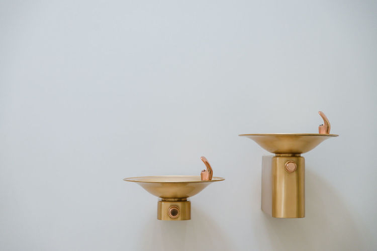 Architecture Art Artistic Bathroom Drink Faucet Fountain Gold Inside Museum No People Photography Photooftheday Shadow Simplicity Single Object Water Water Fountain White