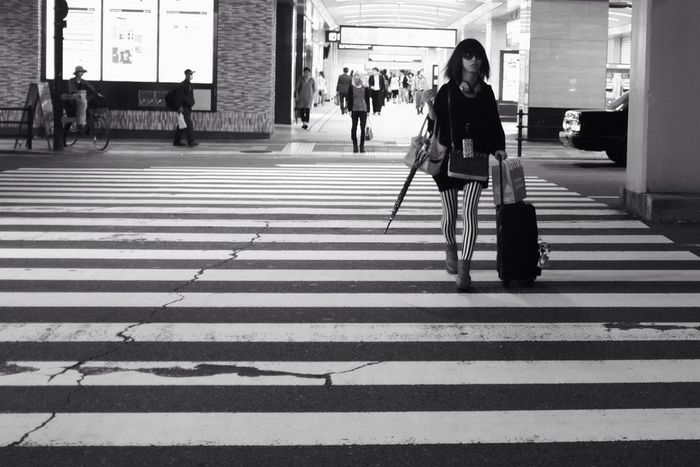 Streetphotography Monochrome Crossing The Street Jane Doe