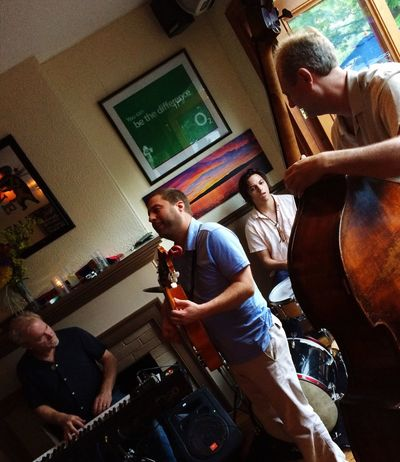 Sunday Night Jazz Jam Larry Taminini Live Music Everyday Joy Keys Guitar Drums Upright Bass