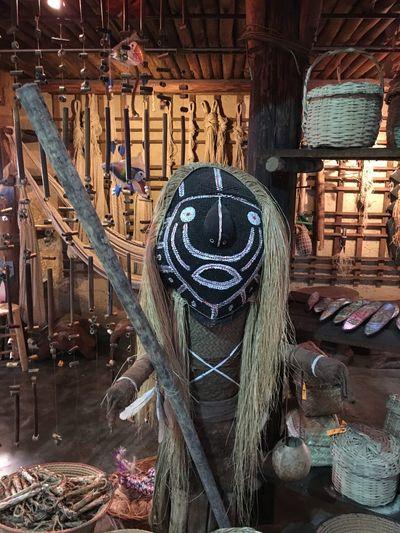 Scarry Mask Arte Aborigen Aboriginal Tribes Aboriginal Art Aboriginal Venezuela Piaroa Wood - Material No People Day Outdoors Architecture
