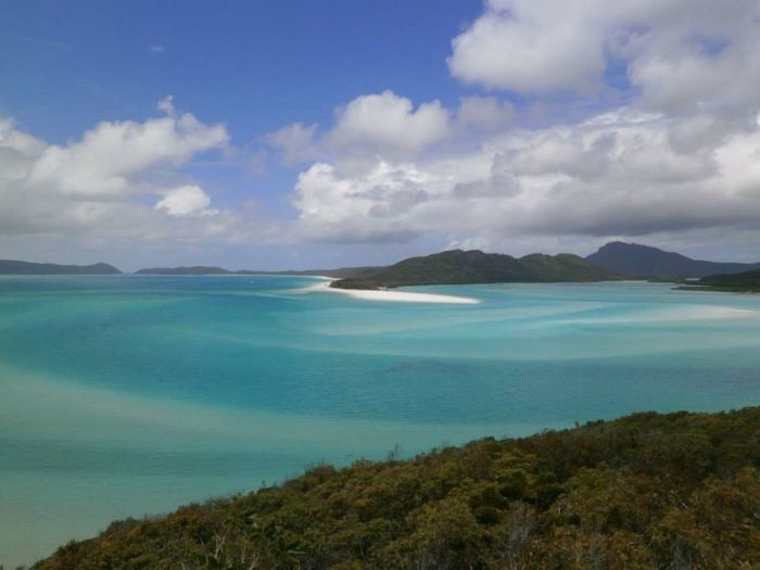 Beauty In Nature Scenics Sky Tranquil Scene Tranquility Nature Sea Mountain Water Outdoors Day No People Cloud - Sky Landscape Horizon Over Water Australia Arlie Beach Whitsunday Islands Greatbarrierreef Love