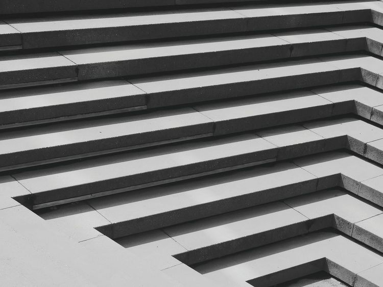 Stairs The Graphic City Striped Pattern Backgrounds Full Frame No People Day Outdoors