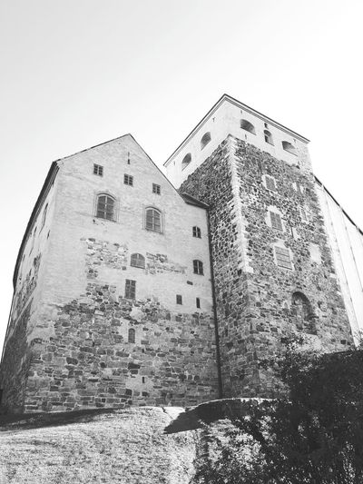 Architecture Built Structure History EyeEm Best Shots Old Town Taking Photos Old Buildings Travel Destinations Castle Walls Turku Castle, Finland Finnland Traveling Blackandwhitephotography Blackandwhite