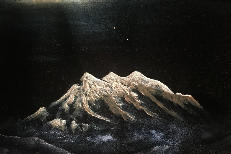 Andes Beauty In Nature Close-up Fine Art Illimani Nature Night No People Outdoors Painting