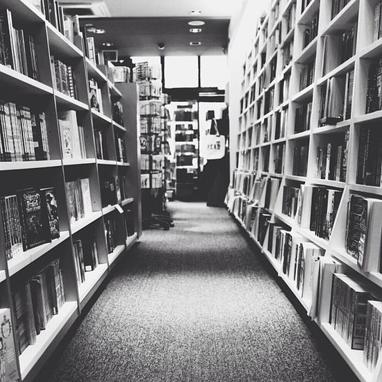 Bookstore. Featuring black and white. Vscocam