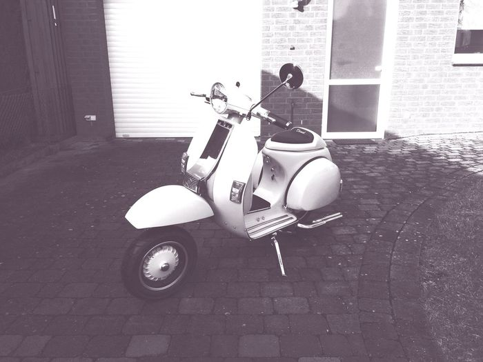 Vespa custom Day High Angle View No People Built Structure Architecture Outdoors Building Exterior Street