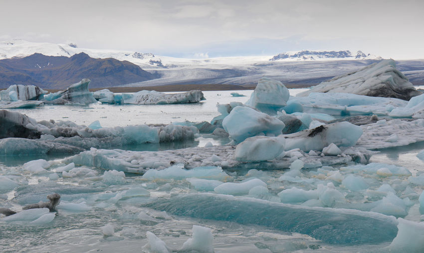 Rapid glacier melting in iceland due to global warming