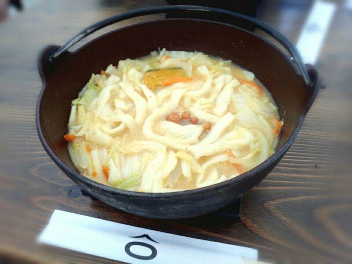汗かきながら熱々ほうとう ほうとう不動 Houtou Japanese Food