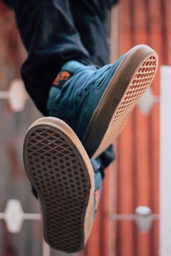 """""""OFF THE WALL"""" HalfCab Vans Off The Wall Vans EyeEm Selects One Person Real People Low Section Human Leg Leisure Activity Casual Clothing Lifestyles Outdoors Close-up"""