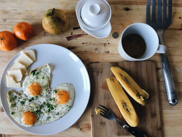Food And Drink Table Breakfast Food Freshness Egg Healthy Eating High Angle View Indoors  Bread Directly Above Plate Ready-to-eat No People Day Egg Yolk VSCO IPhone