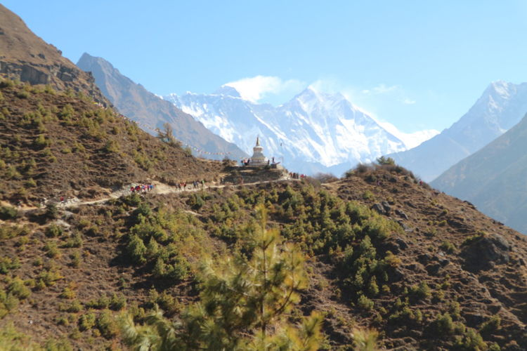 Namche to Dengboche Beauty In Nature Day Dengboche Everest Himalayas Landscape Mountain Namche Bazaar Nature Nepal No People Outdoors Range Scenery Sky The Great Outdoors - 2017 EyeEm Awards