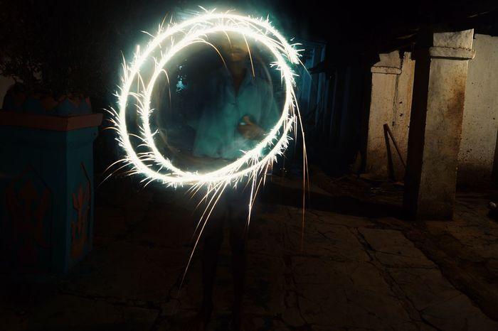 Night Diwali2016 Diwali💟🎇🎆🌌 Diwali Celebration Motion Long Exposure Blurred Motion Firework Display Wire Wool No People Astronomy Outdoors Galaxy Star - Space