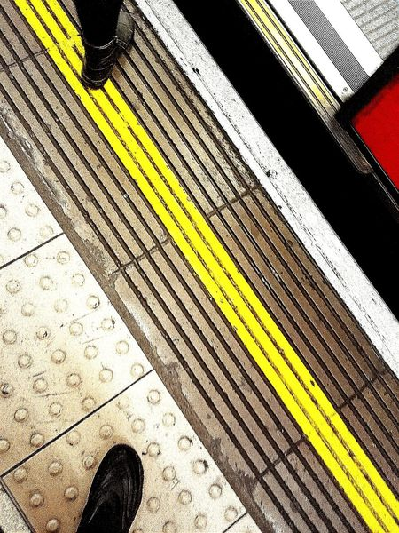 Tube Tube Station  London Underground Color Photography EyeEm Gallery Subway Station Waterloo Station Angles And Lines Feet Shoes Check This Out Train Station Transportation Colorful