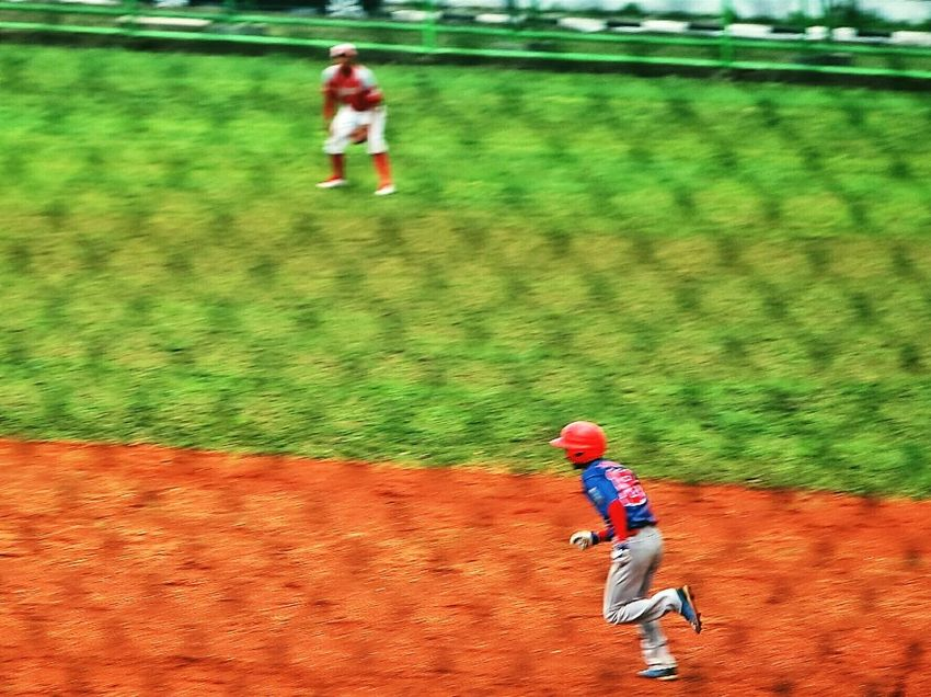 People And Places Leisure Activity Lifestyles Childhood Full Length Playing Casual Clothing Red Day Person Summer Innocence Green Color EyeEmBestPics EyeEm Best Shots EyeEm Gallery INDONESIA Sports Photography Baseball Game Baseball ⚾