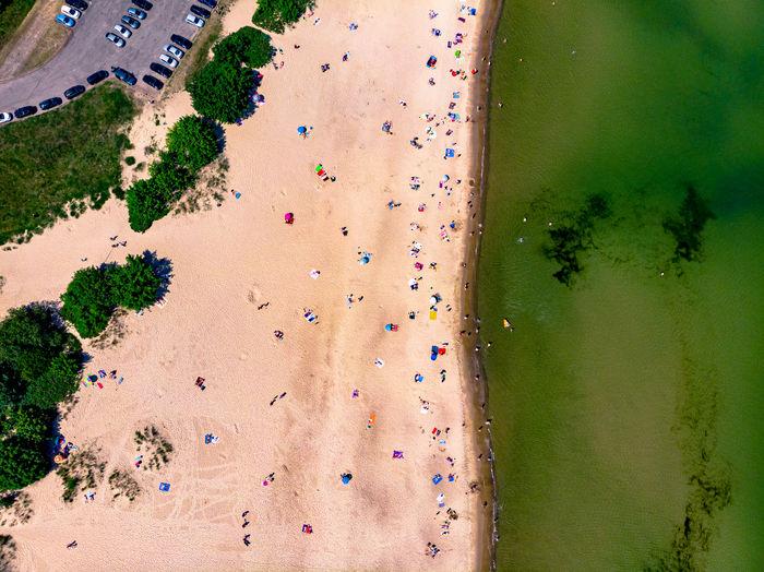 Gdansk westerplatte beach from above