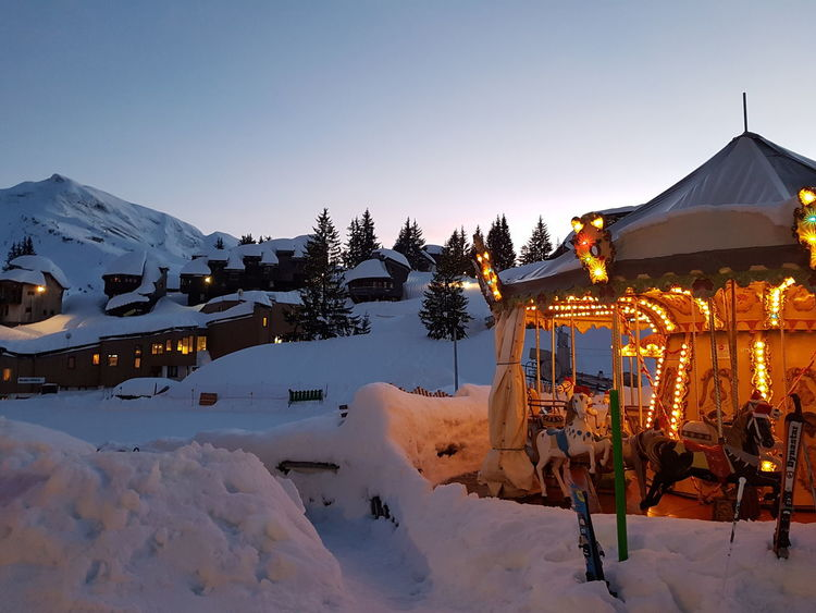 Light Pretty Holiday Calm Travel Travelgram Vacation Hiver Shades Of Winter France Avoriaz Snow Cold Temperature Mountain Winter Outdoors Night Vacations Carousel