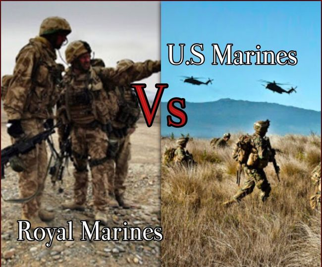 🇺🇸U.S Marines Vs British Royal Marines🇬🇧 Who do you think would win or who's better. Comment below USA Britain Us Military British Military USMC Royal Marines Who's Better