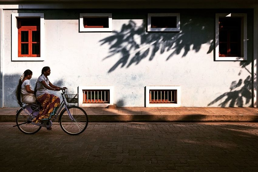 Feel The Journey Outdoors India Cycling Travel Photography Pondicherry Tamilnadu Composition Ligjt And Shadow
