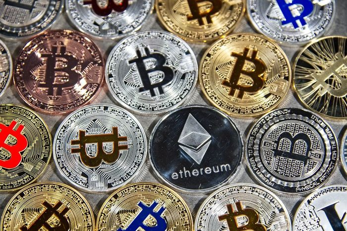 Shining gold and silver metal BTC and ETH, Bitcoin and Ethereum coins on grey background BTC Gold Taxi Virtual Reality Backgrounds Bitcoin Blockchain Coin Crypto Cryptocurrency Cryptography Digital Eth Ether Ethereum Exchange Finance Flat Lay Full Frame Metal Silver