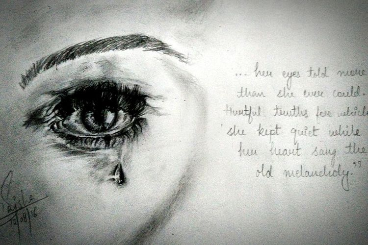 Her eyes told