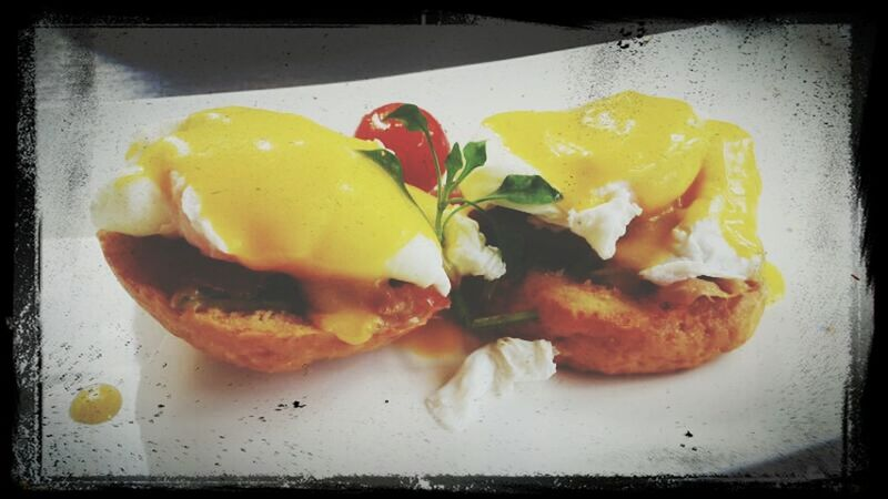 My Eggs Benedict ...looks yummy !!! Bruch Eating Enjoying Life