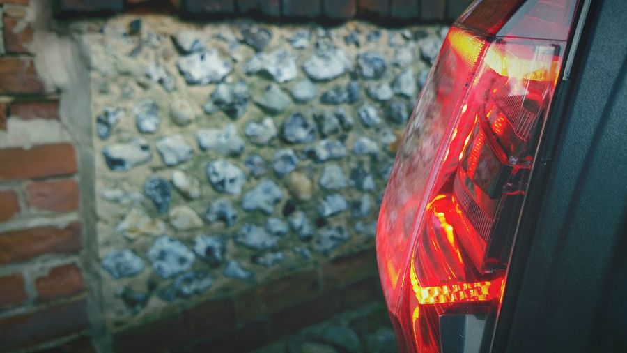 Brake Lights Red Light Wall Flint Wall Car Lights Warning Lights