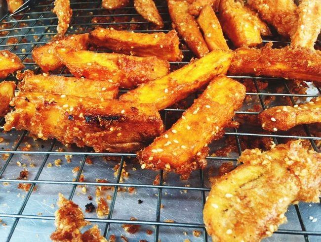 Food Food And Drink Heat - Temperature No People Healthy Eating Freshness Close-up Ready-to-eat Outdoors Patato Fried Fried Potatoes Day