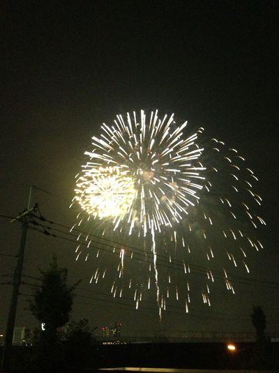 淀川花火大会でした!めっちゃキレイ。 花火 淀川花火