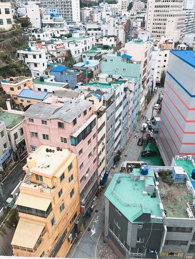 屋上 13F Rooftop View  Cloudy Analoglondon Busan,Korea Rainy Season Iphone7