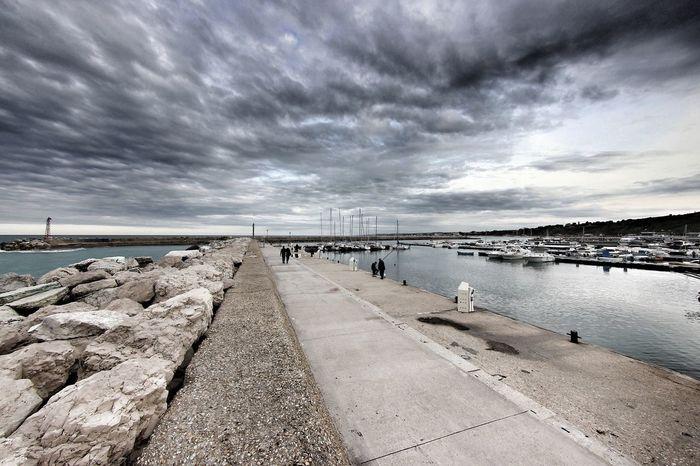 Rivieradelconero Italianlandscape Adriaticsea Sea And Sky Sky And Clouds Sky_collection Marchetouring EyeEm Best Shots - Black + White Showcase July EyeEm Bnw Enjoying The Sun Eyeembestbw