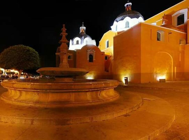 Hermoso Tlaxcala Church Arquitecture Nightphotography