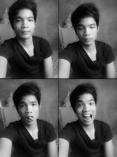 Hi! Chinito Blackandwhite Selfie