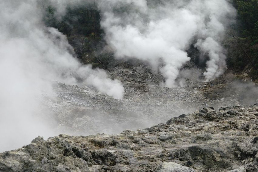 Kawah ratu, an active crater in gunung salak Gunung Salak Kawah Ratu Volcano Crater Steam Geyser Power In Nature Motion Smoke - Physical Structure Nature No People Outdoors An Eye For Travel