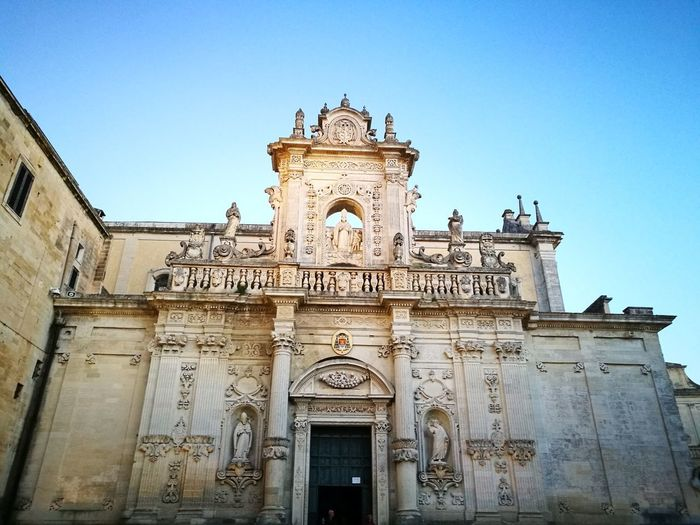 Lecce Italy🇮🇹 Piazza Duomo Duomo Architecture Travel Destinations History Day Ornate Building Exterior Outdoors Bas Relief Façade Built Structure Sculpture Barocco Leccese