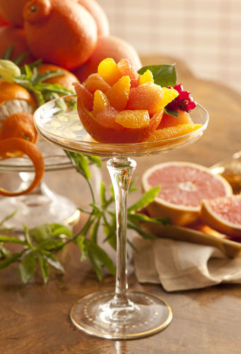 Elegant Orange Salad Citrus Fruit Close-up Cocktail Colander Day Dessert Dried Fruit Elegant Food Freshness Fruit Garnish Glass Indoors  Lemon Nature No People Orange - Fruit Orange Color Sleeping Sugar Table Zest