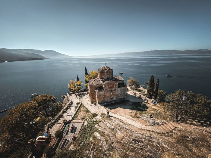 Lake ohrid kaneo church