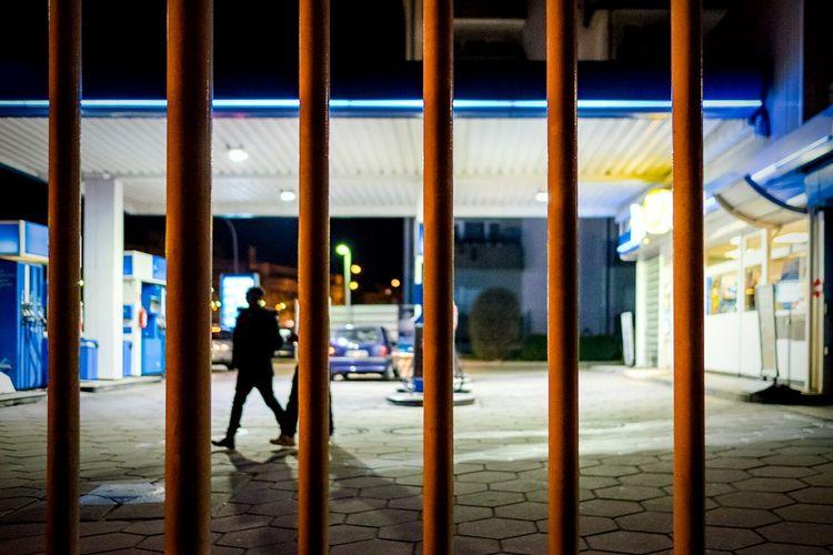Streetphotography Light And Shadow All The Neon Lights Big City Lights Car Fujifilm X-E2 Oberursel