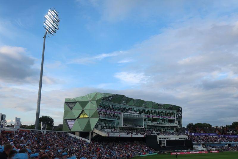 Carnegie stand Evening Evening Light Evening Glow Sculptural Cricket! Cricket Match Cricket Field