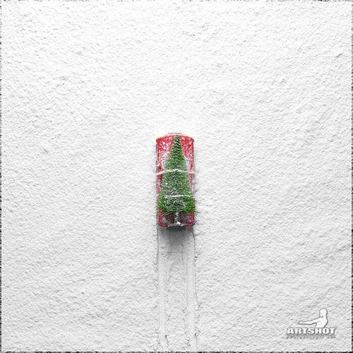 Christmas Time Weihnachtszeit Auto Car Baum Tree Christmas Tree Christmastime Snow Schnee Griswold Weihnachtsbaum Forest Wood Winter ArtWork Still Life Nature Fine Art Photography Red Modellauto Miniature