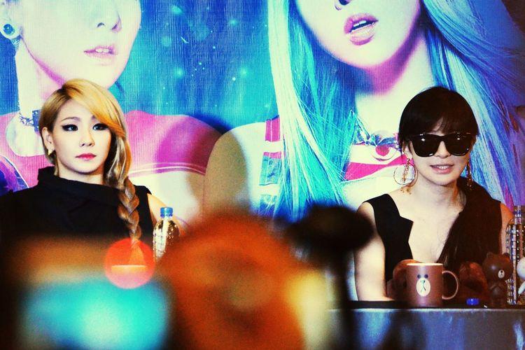 AON in Singapore Press Conference 2NE1 Cl2ne1 Park Bom 2ne1 Korean