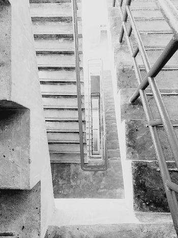M50 Building Stairways Stairway Infinity Black & White Black And White Blackandwhite B&w Shanghai, China