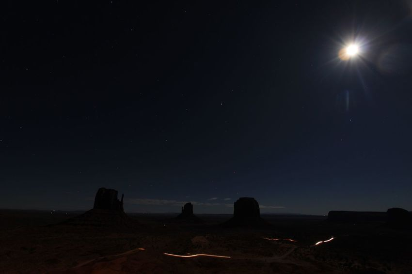 Monument Valley National Park Astronomy Beauty In Nature Galaxy Illuminated Moon Nature Night No People Outdoors Scenics Silhouette Sky Space Star - Space Tranquil Scene Tranquility