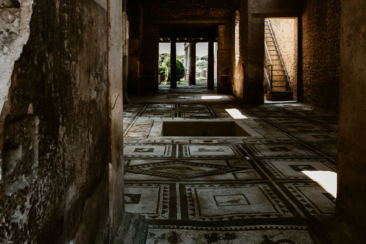 Pompeii  Pompeii Ruins Italy Architecture Built Structure Building Day Old Abandoned No People History Indoors  The Past Obsolete Window Run-down Weathered Wall - Building Feature Nature Deterioration Architectural Column Ruined
