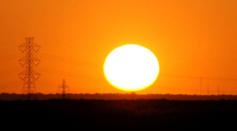 Electric sunset. Sun The Sun Sunset The Sunset Yellow Sun Sky Orange Sky Orange Sunset Orange Horizon Electric Transmission Tower Street Lattice Power Lines Power Line  Powerline Powerlines